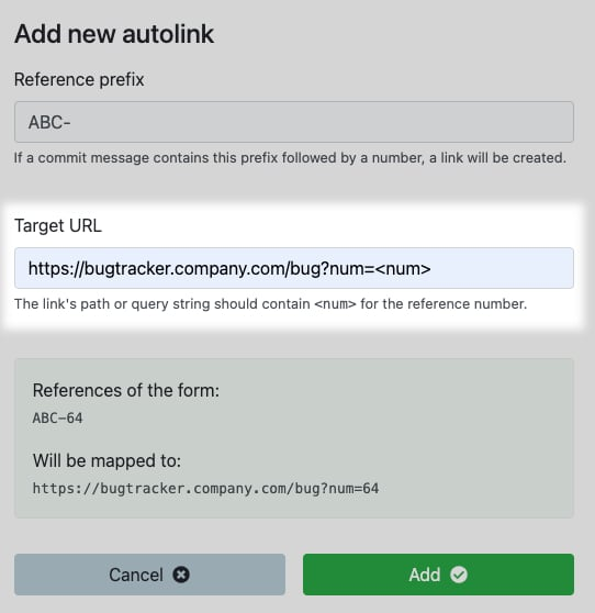Choose autolink target